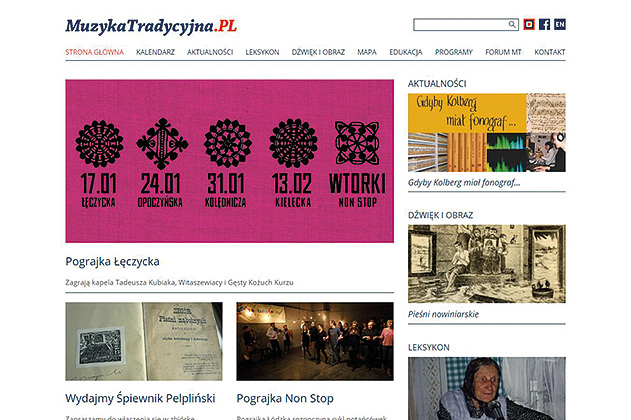 Website on traditional Polish music gets a makeover - miniatura